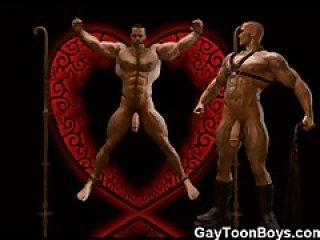 Muscled Gay Boys 3D Fantasy!