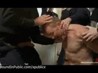 Police officers shove dick in mouth of perv gay