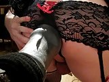 Smooth Sissy Hole Stretched Upclose