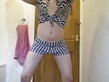 Teen CrossDresser Check Shorts
