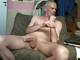 Naked Man Stroking His Cock