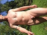 Naked Walk In Field