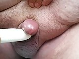 Small Cock Cums Quick On Vibrator