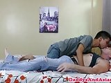 Skinny Pinoy Twink Barebacked Then Jerks Off