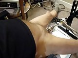 Fuck Machine Sounding My Cock In Chastity Cage