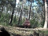 Caught Masturbating In The Woods