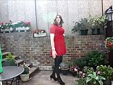 Alison In Her Red Dress And Pantyhose – More Spunk