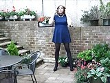 Alison Can't Stop Wanking In The Garden – Sexy Crossdresser