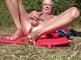 Norwegian Daddy Jerking On Public Beach – 2015