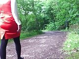 Satin Dress In The Forest