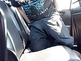 Toying And Stroking In Backseat (Public Masterbation)