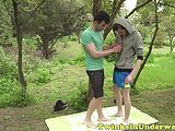 Young Amateur Twink Gets Cock Milked Outdoors