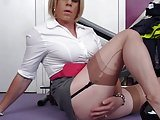 Cd Secretary Cums On Her  Lunch Break