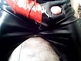Latex Gloves & Leather Pants Handjob In Your Face