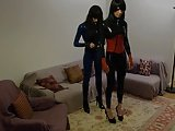 Alexandra And Karyn Playing In Latex