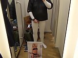 Cum Tribute In Clothing Store Changing Room