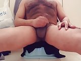 My Fat Cock Shoots A Quick Cumshot With Hairy Body