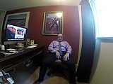 Daddy Wank In His Office