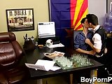 Two Horny Guys Fuck Hard All Over The Office