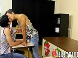 Daniel Ross And Jamie Sanders Get Naughty In The Classroom