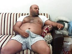 Very Handsome Turkish Bear Smoking, Stroking And Cumming