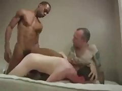 Back And White Cocks Cum Inside Guys Ass